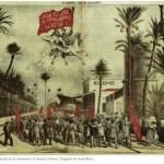 """Mundo obrero. Imagen, también con cierto gusto romántico, publicada por el diario """"Mundo Obrero"""", que informaba de la huelga de costureros de alpargatas de 1903."""