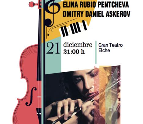 Concierto Duo violines ELINA RUBIO PENTCHEVA DMITRY DANIEL ASKEROV