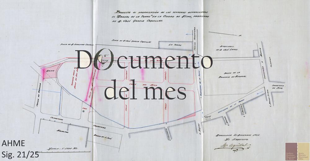 Enero: Urbanización del Barrio del Asilo en su centenario