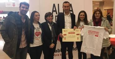 Donación de sangre del alcalde