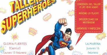 Talleres de Superhéroes en las bibliotecas infantiles