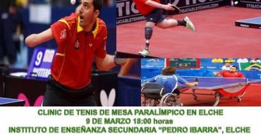 El IES Pedro Ibarra acoge un clinic de Tenis de Mesa Paralímpico