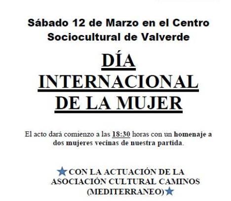Las amas de casa de Valverde, conmemoran el día internacional de las mujeres.