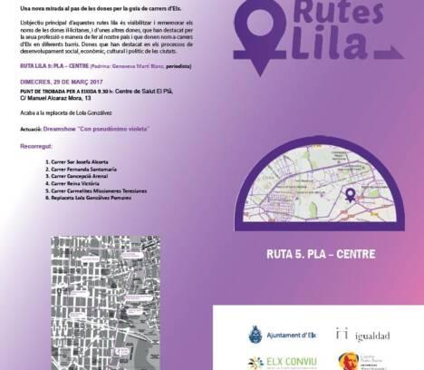 Rutes Lila. RUTA LILA 5 Pla – Centre