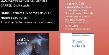 """Las Clarisas acoge la presentación de los libros ganadores de los Premis Literaris """"Ciutat d'Elx 2016"""""""