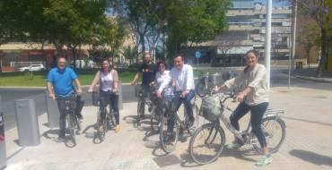 El Ayuntamiento inaugura una nueva estación de BiciElx en la calle Joan Fuster