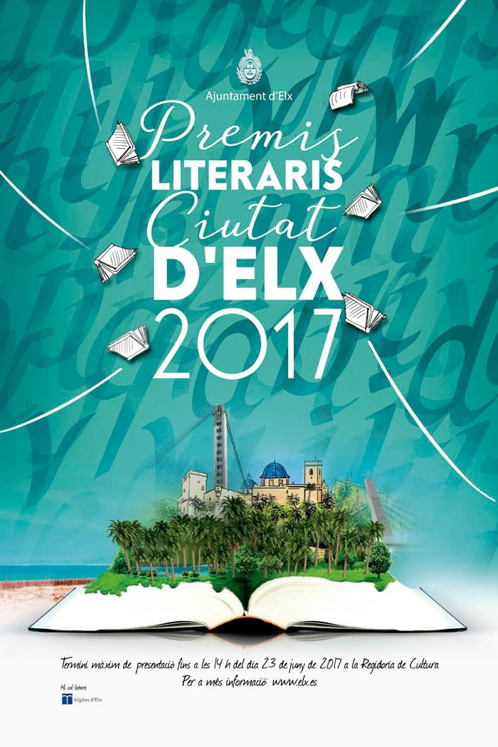 """Convocatoria de los premios literarios """"Ciutat d'Elx"""" 2017"""