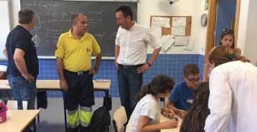 El alcalde participa en el Día de la Familia en el Colegio Mestre Canaletes de Perleta