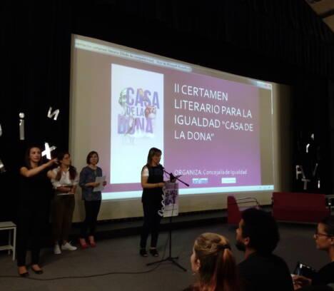 Acto de entrega de premios del Segundo Certamen Literario para la Igualdad, «Casa de la Dona»: