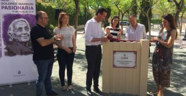 Elche recupera el monumento  a la Pasionaria y le dedica un  jardín en el barrio de Altabix