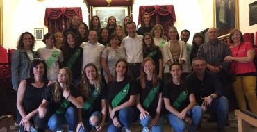 Recepción al equipo femenino del Club Waterpolo Elche