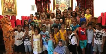 Recepción en el Ayuntamiento a los niños saharauis y sus familias de acogida