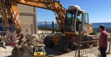 Comienzan las obras de reparación del socavón del Hotel de Arenales