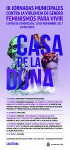Cartel III Jornadas Contra Violencia Género. Feminismos para vivir