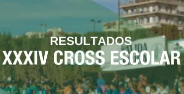 Resultados XXXIV Cross Escolar