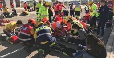 """Carlos González: """"El simulacro de accidente aéreo nos permite evaluar la capacidad de respuesta ante un suceso de esta envergadura"""""""