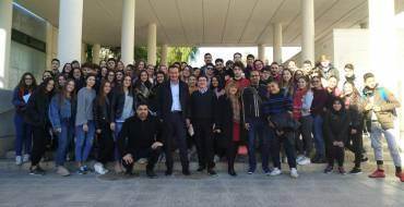 Trobada-col·loqui de l'alcalde amb alumnes de l'institut Joanot Martorell