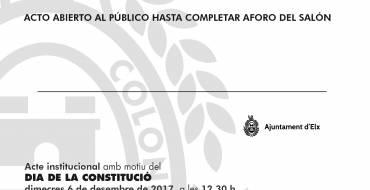 Acto Institucional del Día de la Constitución.