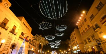 Festa de nit de Cap d'Any a la plaça de Baix