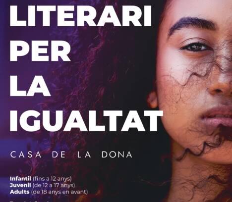 Abierto el plazo para particiar en el III Certamen Literario para la Igualdad «Casa de la Dona»