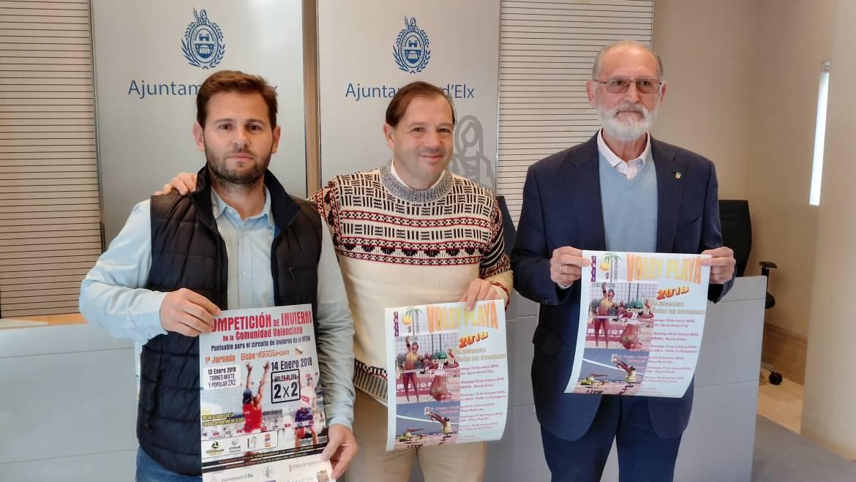 L'Ajuntament presenta la competició d'hivern de voleibol platja de la Comunitat Valenciana