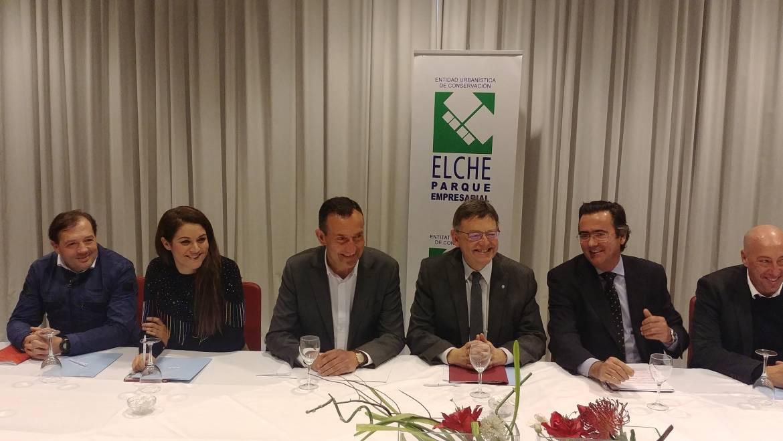 Ximo Puig confía en que a principios de 2019 comience a licitarse la ampliación de Elche Parque Empresarial
