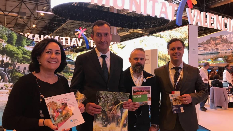 El alcalde de Elche asiste a la inauguración de la Feria Internacional de Turismo