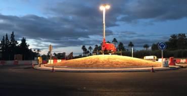 Nueva rotonda para mejorar el tráfico en la carretera de Santa Pola