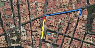 Corte c/ Puente Ortices con Almórida