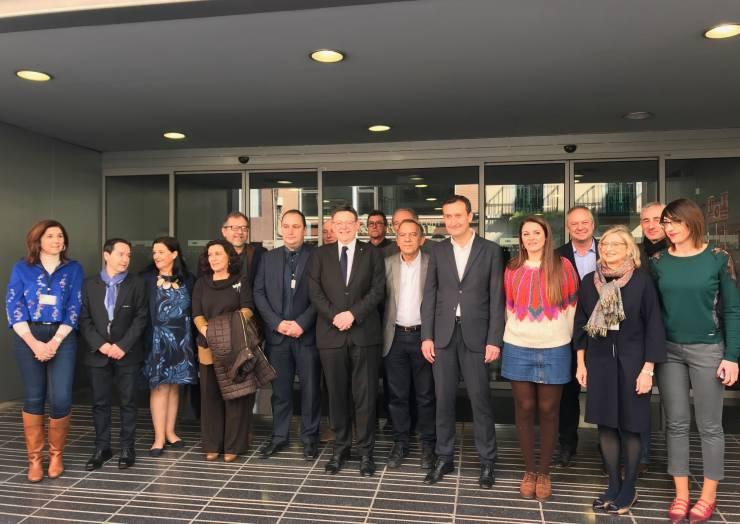 El president de la Generalitat confirma l'inici enguany de les obres de l'Institut número 11 i dels col·legis La Pau i La Baia