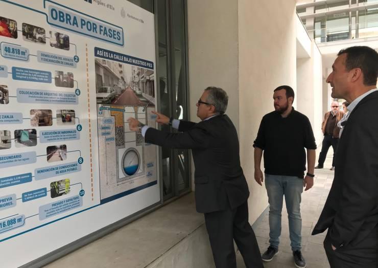 Inaugurada una exposició sobre el col·lector d'aigües pluvials de Carrús