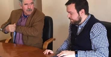 Firma del convenio entre el Ayuntamiento y ASAJA