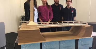Visitelche colabora con los alumnos de la UMH en el XV Concurso de Puentes