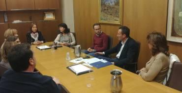 El alcalde y el edil de Comercio reciben a la nueva Asociación de Comerciantes del Centro de Elche