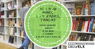 Horario de las Bibliotecas Municipales en Semana Santa