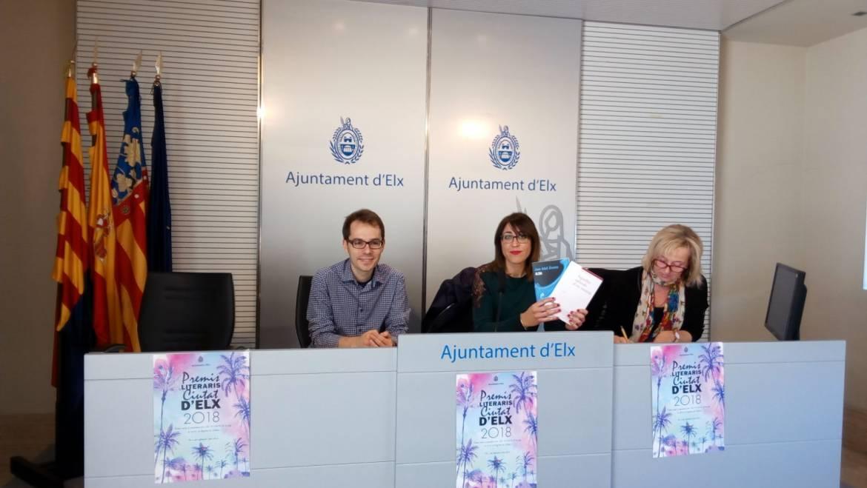 L'Ajuntament presenta els Premis Literaris Ciutat d'Elx 2018