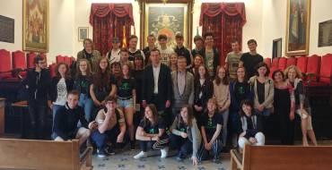 Recepción del alcalde y la edil de Cultura a estudiantes franceses