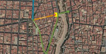 Corte total de Plaza del Pont