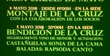 Actividades programadas para la celebración de las  Cruces de Mayo 2018