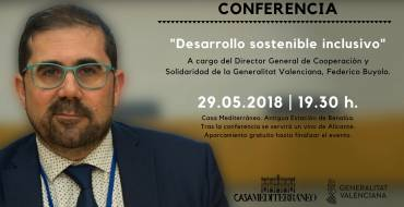 """Conferencia """"Desarrollo sostenible inclusivo"""" a cargo del Director General de Cooperación y Solidaridad"""