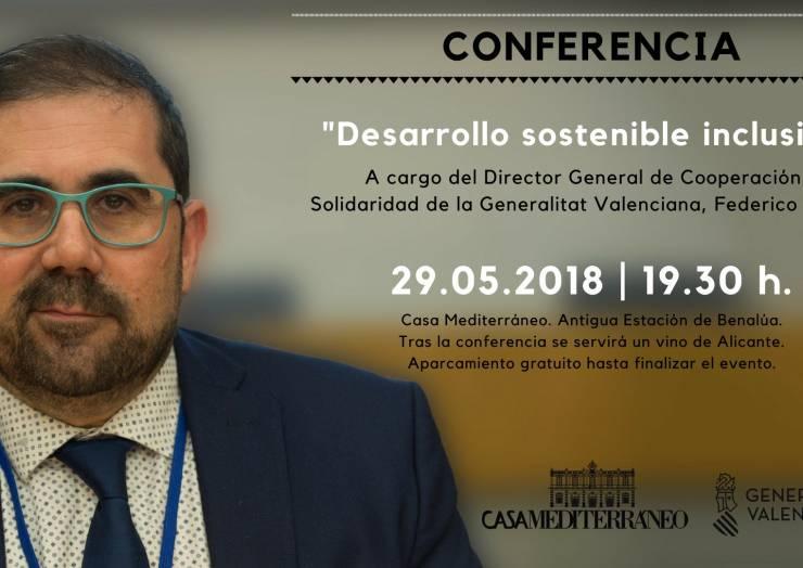 """Conferència """"Desenvolupament sostenible inclusiu"""" a càrrec del Director General de Cooperació i Solidaritat"""