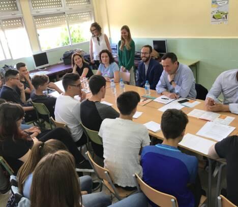 Trobada amb estudiants emprenedors del Pere Ibarra
