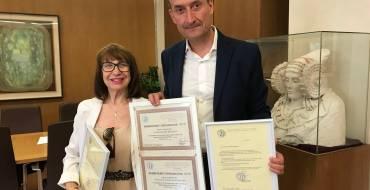 L'alcalde rep la coreògrafa Pilar Sánchez, convidada per la UNESCO per a ser membre del Consell Internacional de Dansa