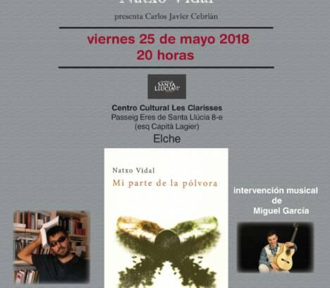 Presentació del llibre 'Mi parte de la pólvora' en Les  Clarisses