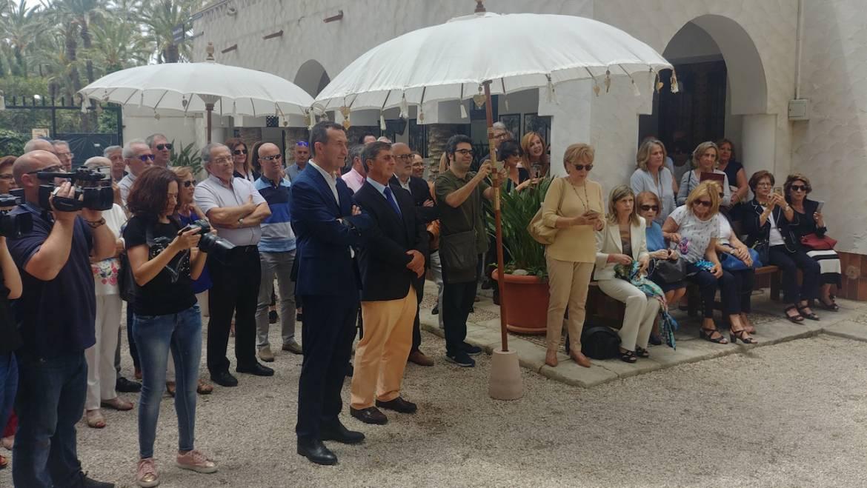 Inauguración de un busto en honor al párroco José Castaño Sánchez