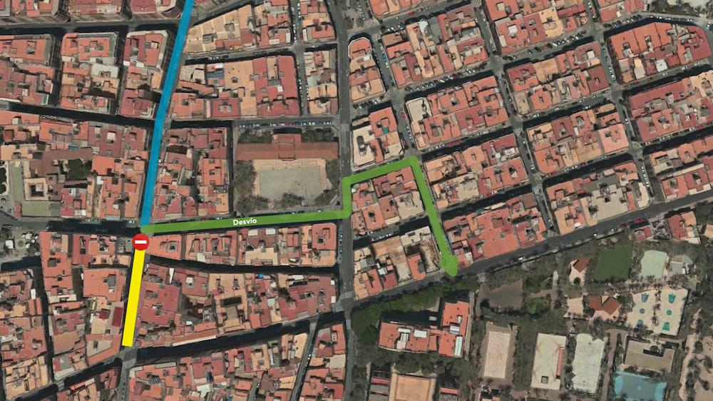 Corte de c/ Puente Ortices