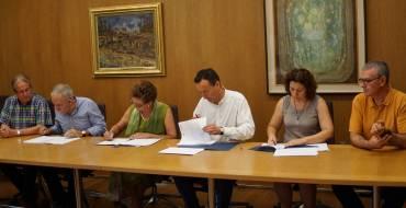 Firma convenio entre Ayuntamiento, CCOO y UMH