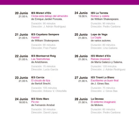 XXI Muestra de teatro de Enseñanzas Medias «Oscar Martín»