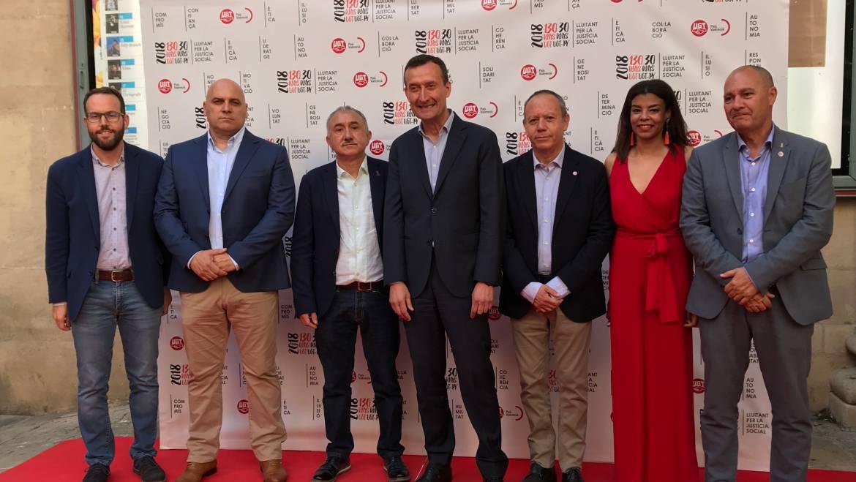 El alcalde de Elche abre en Alicante el acto de conmemoración del 30 aniversario de UGT del País Valenciano