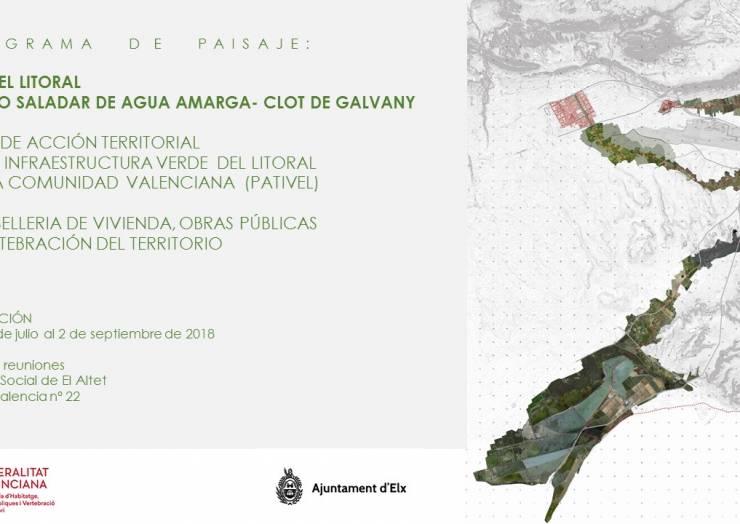 Exposición del Programa de Paisaje: Vía del Litoral. Tramo Saladar de Agua Amarga-Clot de Galvany